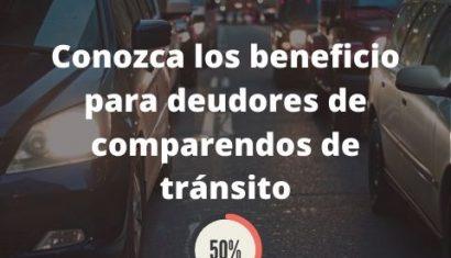Rebajas en las deudas de comparendos de tránsito
