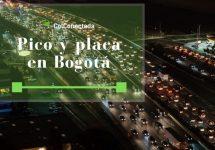 Pico y placa en Bogotá hoy