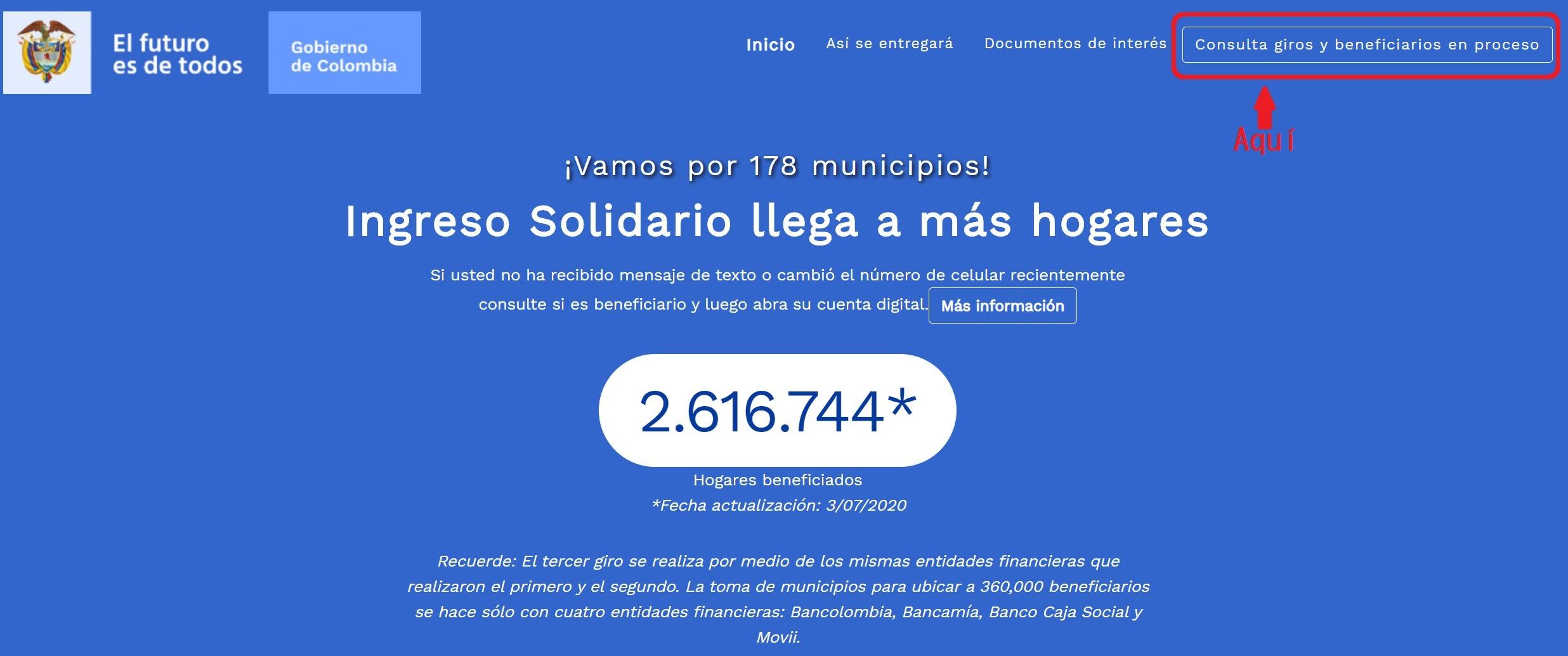 ingreso solidario consulta beneficiarios
