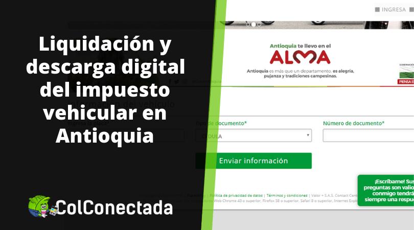 Pago del impuesto de vehículos en Antioquia 2021 11