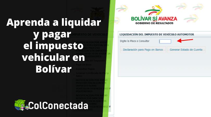 Impuesto vehículos en Bolívar 2021 8